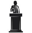 man giving speech vector image vector image