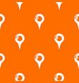 map pointer pattern orange vector image vector image