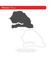 map senegal isolated black vector image vector image
