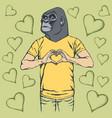 monkey valentine day concept vector image