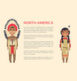 north america traditional vector image