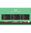 Perl programming language code vector image vector image