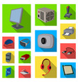 personal computer flat icons in set collection for vector image vector image