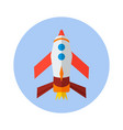 rocket flat icon rocket icon h vector image vector image