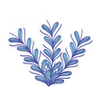 rustic natural branches plant with leaves vector image vector image