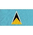 Saint Lucia paper flag vector image vector image