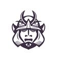 Samurai helmet japanese facial armour worn by the vector image vector image