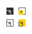 screen sizes icons vector image