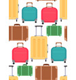 seamless texture with various suitcases on a vector image vector image