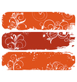 set of horizontal floral autumn banners vector image