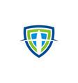 shield business logo vector image