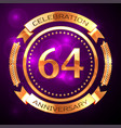 sixty four years anniversary celebration with vector image vector image