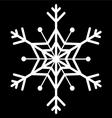 snow flake vector image vector image