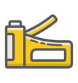 staple gun filled outline icon build and repair vector image vector image