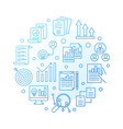strategic planning round blue outline vector image