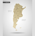 stylized argentina map vector image