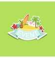 Surfing Event Template Label Cute Sticker vector image vector image