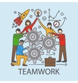 Teamwork concept with cogwheels vector image
