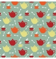 Teapots and teacups vector image vector image