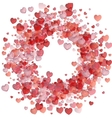Valentines day background with heart vector image