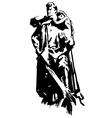 Warrior Monument to the heroes Second World War vector image