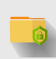 yellow folder icon vector image