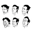 a set of emotions of a charming cartoon man in a vector image vector image