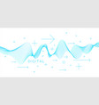 abstract background with dynamic waves vector image vector image