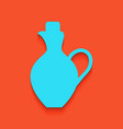 amphora sign whitish icon on vector image vector image