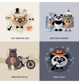 Animal Hipster Set vector image