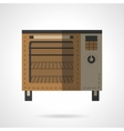Bakery stove flat color design icon vector image