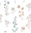 beautiful seamless floral pattern with vector image vector image