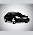 black car side silhouette vector image vector image