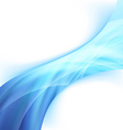 Bright glowing blue power wave abstract swoosh vector image vector image