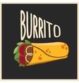 Burrito vector image vector image