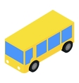 bus isometric 3d icon vector image vector image