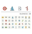 Business and management color icons vector image vector image