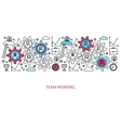 Business people teamwork concept vector image