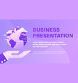 business presentation background with vector image