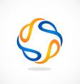 circle abstract swirl tech logo vector image vector image