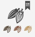 cocoa pod isolated icon or sign vector image vector image