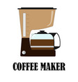 color of the coffee maker vector image vector image