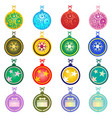 colorful christmas balls on white background vector image vector image