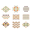Cute Collection of Ethnic Patterns vector image