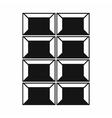 Dark chocolate icon simple style vector image vector image