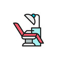 dentist chair medical equipment flat color vector image vector image