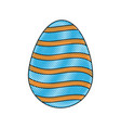 drawing happy easter egg decoration ornament vector image vector image