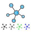 euro financial network flat icon vector image vector image