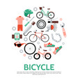 flat bicycle concept vector image vector image