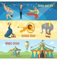 Flat Circus Banners vector image vector image